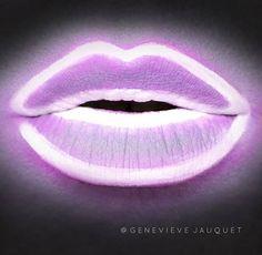 'Neon Light Lips' Late night makeup #inspo via @genevievejauquet