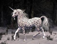 SciFi and Fantasy Art Snow Leopard Unicorn by Donna Maria Waltz Unicorn Fantasy, Unicorn Horse, Unicorn Art, Beautiful Unicorn, Beautiful Horses, Arte Equina, Unicorn Pictures, Unicorns And Mermaids, Mythological Creatures