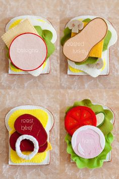 Gorgeous Felt Sandwich Set
