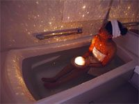 a japanese light for your bath; plays different scenes!