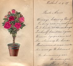 Old Paper, Letter Writing, Altered Books, Vintage Cards, Vintage Floral, Decoupage, Bullet Journal, Letters, Roses