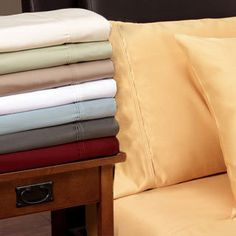 Sleep in unparalleled comfort with this luxurious 1200 thread count sheet set. Featuring Egyptian cotton construction, this soft sheet set is finished with 4-inch piped hems.
