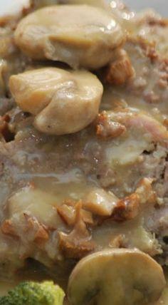 Meatloaf in Mushroom Gravy