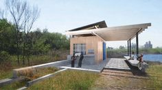 Seating Paradise Creek Nature Park + Pavilions   University of Virginia: School of Architecture