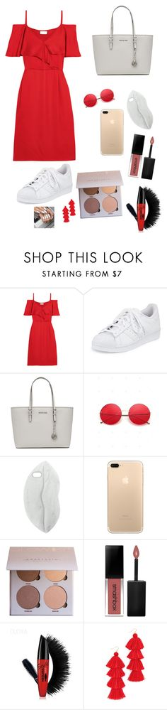 """🌹"" by oliviaonline ❤ liked on Polyvore featuring Paul & Joe, adidas, MICHAEL Michael Kors, STELLA McCARTNEY, Smashbox and Misa"