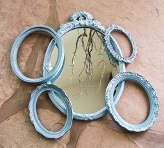 Oval Wall Mirror with Four Frames Dargonfly by olliesfinethings, $68.00