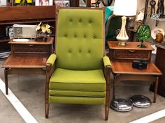 Vintage Green Burris Recliner  $325  Booth #1968  Lula B's in the OC! 1982 Ft. Worth Ave. Dallas, TX 75208