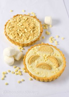 Pronunciation problems/-/ Triple white chocolate tart | The moonblush Baker