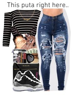 """""""3-19-2017 1:35 PM EST"""" by kaydabae4life ❤ liked on Polyvore featuring Boohoo"""