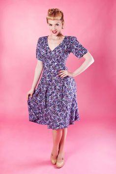 40s-Tea-Dress---Purple-Ditsy  http://www.20thcenturyfoxy.com/