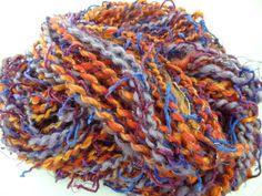 Handspun Funky Art Yarn Whimsical 52 yards 4 by ladypainswick, $32.00