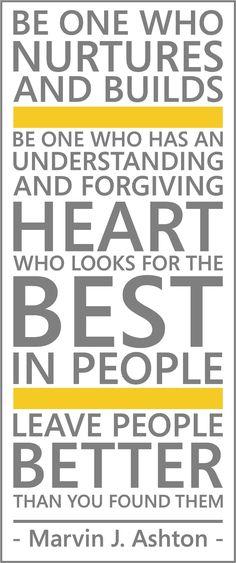 An understanding and forgiving heart.