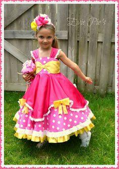 Belle's Bow Dress PDF Pattern from Fairytale Pattern Designs.
