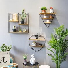Cheap Storage Holders & Racks, Buy Directly from China Suppliers:Modern Wall Iron Hanging Holder Small Metal Storage Rack Books Vase Home Living Room Decoration Wood Sundries Storage Wall Shelf Metal Storage Racks, Iron Storage, Cheap Storage, Home Living Room, Living Room Decor, Bedroom Decor, Diy Wall Decor, Diy Home Decor, Small Apartment Decorating