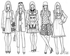 Kate Spade New York Fall 2012 Illustration by Jessica Quirk by What I Wore, via Flickr