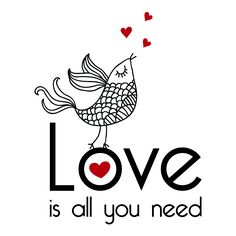 Vinilos Decorativos Frases Love is all you need