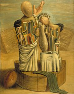 Giorgio de Chirico.  See The Virtual Artist gallery: www.theartistobjective.com/gallery/index.html