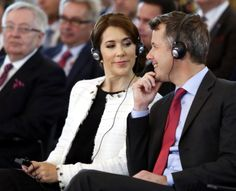 Crown Princess Mary and Crown Prince Frederik flirts as they mark theirs first day of an official visit Poland May 12, 2014