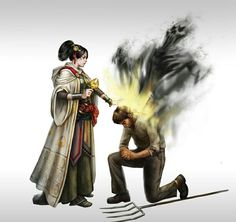 Female Cleric of Sarenrae - Pathfinder PFRPG DND D&D d20 fantasy