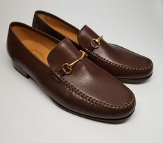 485d14f0080f0 Maus & Hoffman Mens Sz 10.5 M Horse-Bit Slip On Calfskin Leather Loafers