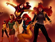 Evolution of Jean Grey