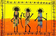 AFRICA -- Another African Masai project :  we heart art: African Dancers  ALL AGES