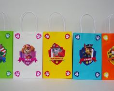 Instant Download Paw Patrol 'Girls' Favor by CreativePartyStudio