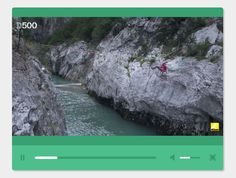 This is a pretty nice, flat style, fully responsive, mobile-friendly HTML5 video player built using #jQuery, HTML5, CSS/CSS3 and a little JavaScript.