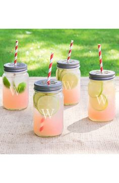 Cathy's Concepts Personalized Drinking Mason Jars (Set of