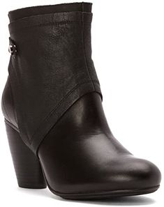 LADIES CATERPILLAR ALLISON LEATHER PULL ON BLOCK HEEL CASUAL WINTER ANKLE BOOTS
