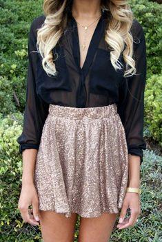 cute skirt and shirt
