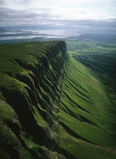 Ben Bulben, a large rock formation in County Sligo, Ireland.