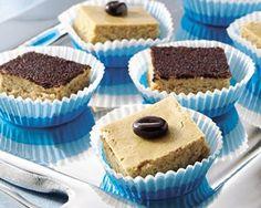 Tiramisu Cheesecake Dessert~ Mocha-flavored cheesecake bars make a great addition to potluck suppers.