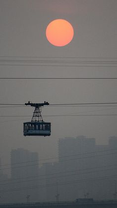 Chongqing Cable Car Sunset - 9393 by tropical.pete, via Flickr