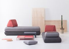 Hungarian furniture brand Hannabi has designed a modular sofa aimed at consumers who move frequently or live in small flats.
