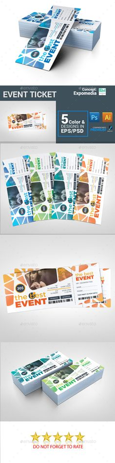Ticket Ticket template, Event ticket and Print templates - free event ticket template download