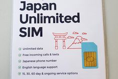 Unlimited Japanese SIM Card by Mobal