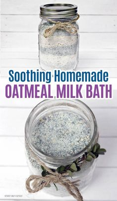 DIY Masque : Description Soothing homemade oatmeal milk bath is perfect for kids, adults, or a great homemade gift idea! Made with essential oils, these homemade bath salts are soothing and smell great. Homemade bath and body with essential oils. Homemade Beauty, Homemade Gifts, Homemade Bath Salts, Homemade Bar, Homemade Facials, Homemade Products, Diy Beauty, Beauty Skin, Beauty Hacks