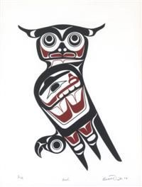 haida art owl - Google Search