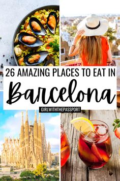 I've traveled to Barcelona many times and believe no Barcelona trip is complete without visiting some of the best places to eat in Barcelona. Because the Barcelona food scene is amazing and a huge part of planning any Barcelona itinerary. So, if Barcelona travel is in your near future, then this is the post for you! Click through now and you'll find 26 amazing, Barcelona foodie hotspots. Some of the best places to visit in Barcelona if you want to eat your all your feelings. #BarcelonaTravel