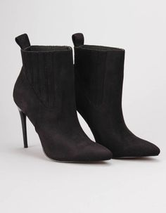 These super sleek and sophisticated Apolia boots from Jessica Wright have microsuede uppers with textured ankle and inch black stiletto heel. Jessica Wright, Black Stiletto Heels, Black Ankle Boots, Footwear, Booty, Clothing, Shoes, Women, Fashion