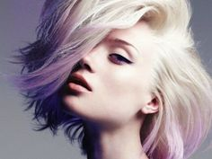 pastel purple ombre' hair color and style