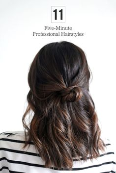 Stop stressing about what to do with your hair each morning. Try out one of these simple 5-minute styles.