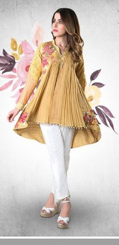 Pakistani Party Wear, Indian Party Wear, Indian Wedding Outfits, Pakistani Outfits, Ethnic Trends, Spring Dresses Casual, Formal Dresses, Short Frocks, Pakistan Fashion