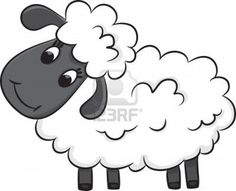 Illustration of Cartoon sheep Vector illustration vector art, clipart and stock vectors. Cute Sheep, Sheep Farm, Sheep Cartoon, Sheep Vector, Farm Images, Cartoon Pics, Easy Paintings, Applique Designs, Embroidery Designs