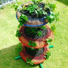 Recycled fan planter 2