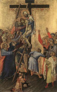 ❤ - SIMONE MARTINI (1285 - 1344) -  Deposition - 1333. Koninklijk Museum voor Schone Kunsten, Antwerp.