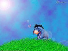 Image Detail for - Eeyore wallpaper by ~Brethill on deviantART Eeyore Images, Eeyore Pictures, Baby Disney, Disney Love, Eeyore Quotes, Fb Cover Photos, Pooh Bear, Cartoon Pics, Winnie The Pooh