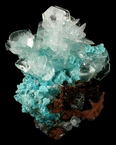 cracks-of-reality:  Calcite on Aurichalcite from  Mexico