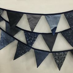 We are just cray about this denim bunting...